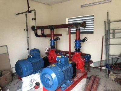 Lắp máy bơm công trình ALS khu công nghiệp Yên Phong